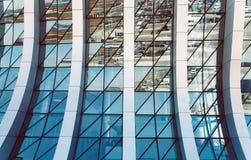 Budynku biurowego nadokiennego szkła abstrakta wzór Zdjęcie Stock