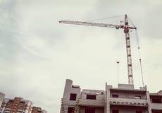 budynku budowy żurawia miejsce obrazy stock