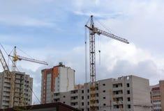 budynku budowy żurawia miejsce zdjęcie stock