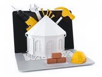 budynku budowy domu materiałów miejsce Obrazy Royalty Free