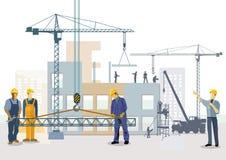 budynku budowy mieszkania domu miejsca tenement Praca proces budynki royalty ilustracja
