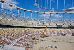 budynku budowy stadium zdjęcia royalty free