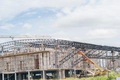 budynku budowy żurawia miejsce Obrazy Royalty Free