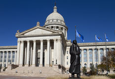 budynku capitol Oklahoma stan Fotografia Royalty Free