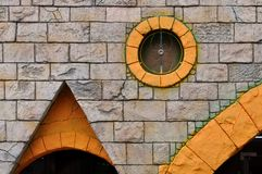 budynku dekoraci external ściana Zdjęcie Royalty Free
