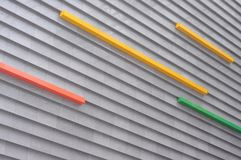 budynku dekoraci zewnętrznie nowożytna ściana Obrazy Royalty Free