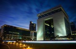 budynku difc Dubai brama Fotografia Royalty Free