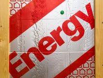 budynku energetycznej wyrzuconej izolaci sztywno oszczędzanie fotografia stock