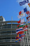 budynku eu France parlament Strasbourg Zdjęcie Royalty Free