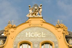 budynku fabryczny historyczny hotelu znaka styl Obraz Stock