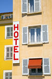 budynku fabryczny historyczny hotelu znaka styl Obrazy Royalty Free