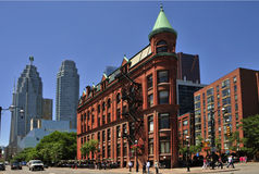 budynku flatiron goodenham Toronto worts Obraz Stock