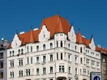 budynku holesovice Prague mieszkaniowy Zdjęcie Royalty Free