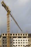Budynku i budowy pojęcia Budowa plac budowy W Zdjęcia Royalty Free
