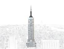 budynku imperium Manhattan nowy stan usa York royalty ilustracja