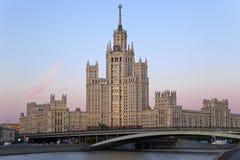 budynku imperium s Stalin styl Obraz Royalty Free