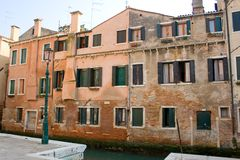budynku kanał Venice Fotografia Royalty Free