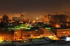 budynku Kiev noc zdjęcia royalty free