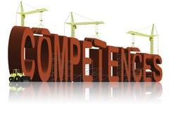 budynku kompetencj kompetentnej pracy umiejętności Obraz Stock