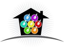 budynku loga farba Zdjęcia Royalty Free