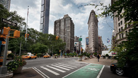 budynku miasta flatiron Manhattan nowy York obrazy stock