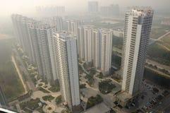 Budynku mieszkaniowego kompleks w Yantai Chiny Obrazy Stock