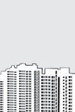 budynku mieszkaniowy wysoki wzrosta linia horyzontu drapacz chmur Obrazy Royalty Free