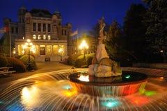 budynku noc parlamentu scena Zdjęcia Stock