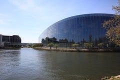 budynku parlament europejski Strasbourg Zdjęcie Royalty Free