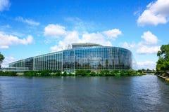 budynku parlament europejski Strasbourg Zdjęcie Stock