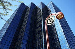 budynku południowych zachodów streetlamp Zdjęcia Stock