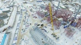 Budynku proces termiczni elektrownia warsztaty w zimie zbiory