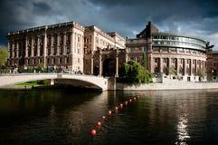 budynku riksdag Stockholm Zdjęcia Royalty Free