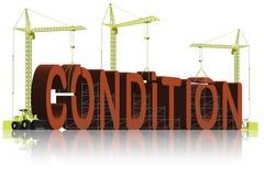 budynku warunek sprawności fizycznej dobre zdrowie badanie lekarskie ilustracji