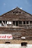 budynku wykolejeniec Zdjęcie Royalty Free