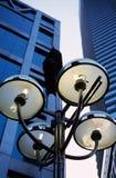 budynku wysoka lampowa wzrosta ulica obrazy royalty free