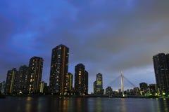budynku wysoki noc wzrost Fotografia Royalty Free