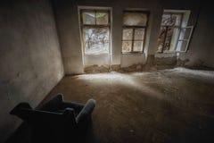 budynku zaniechany wnętrze Zdjęcia Royalty Free