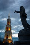 Budynku zespół Katedralny kwadrat w Kolomna Kremlin Kolomna Rosja zdjęcie stock