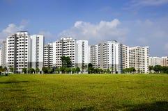 budynków mieszkaniowy porcelanowi Dalian elektryczności grupy pilony Zdjęcie Royalty Free