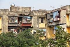 budynków mieszkaniowy porcelanowi Dalian elektryczności grupy pilony Obraz Royalty Free