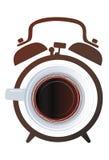 Budzik kawa Fotografia Royalty Free