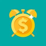 Budzik z dolarowym symbolem Fotografia Stock