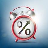 Budzik z procentu znakiem zdjęcia royalty free