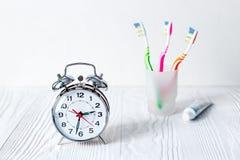 Budzika czas szczotkować zęby Fotografia Stock