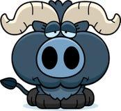 Bue blu triste del fumetto piccolo royalty illustrazione gratis