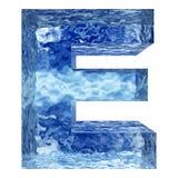 Bue lichte koude berijpte water of de ijswinter Royalty-vrije Stock Foto's