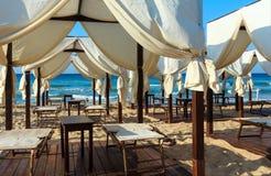 Beach Maldives of Salento,  Pescoluse, Puglia, Italy Royalty Free Stock Photos