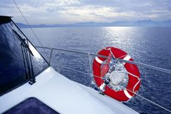 Bue ocean sea view from boat Royalty Free Stock Image