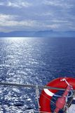Bue ocean sea view from boat Stock Photos
